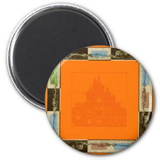 Orange 3 runder magnet 5,1 cm