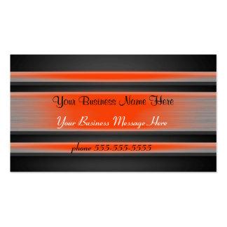 Orange abgetönte MetallVisitenkarte-Schablone