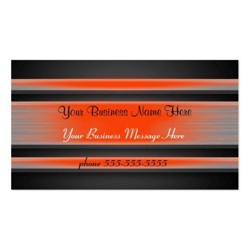 Orange abgetönte MetallVisitenkarte-Schablone Visitenkarten Vorlagen