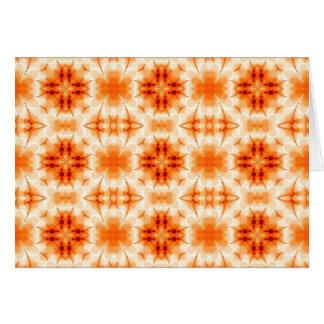 Orange abstrakte Blumen Karte