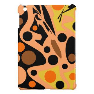 Orange abstrakter Dekor iPad Mini Cover