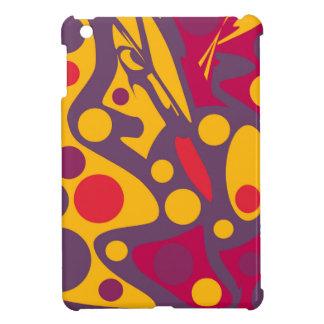 Orange abstrakter Entwurf Hülle Für iPad Mini