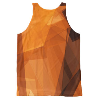 Orange abstrakter Hintergrund für Entwurf als Komplett Bedrucktes Tanktop