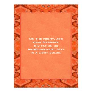 orange abstraktes flyerdruck