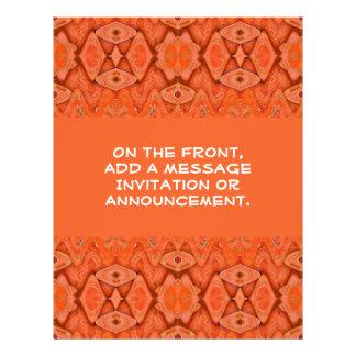 orange abstraktes individuelle flyer
