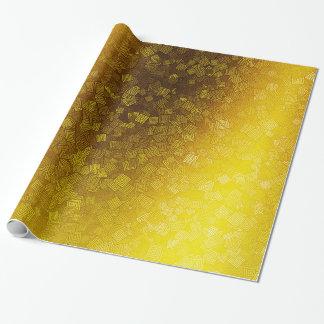 Orange abstraktes geometrisches gelegentliches geschenkpapier