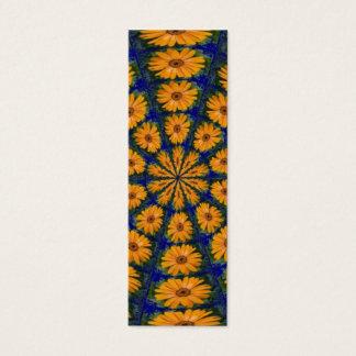 Orange afrikanisches Gänseblümchen, Lesezeichen Mini Visitenkarte