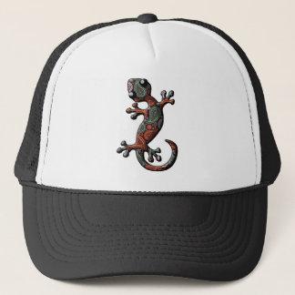 Orange aquamariner Paisley kletternder Gecko Truckerkappe