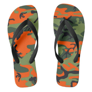 Orange Art-Camouflage des Jägers Flip Flops