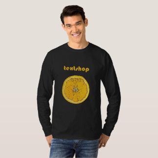 """""""Orange auf dem neuen schwarzen"""" langen Hülsen-T - T-Shirt"""