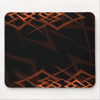 "Orange auf schwarzem ""Dorn"" Mousepad"