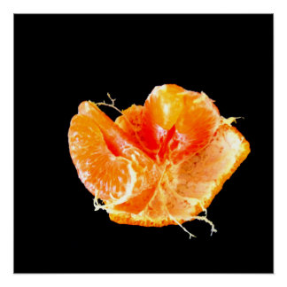 Orange auf schwarzer poster