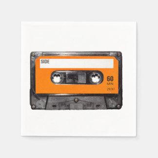 Orange Aufkleber-Kassette Papierserviette