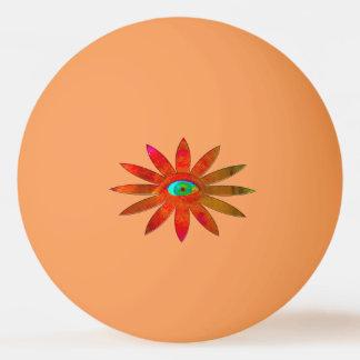 Orange Augen-Blume Tischtennis Ball