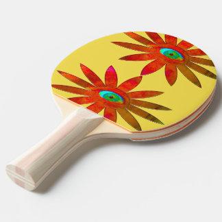Orange Augen-Blume Tischtennis Schläger