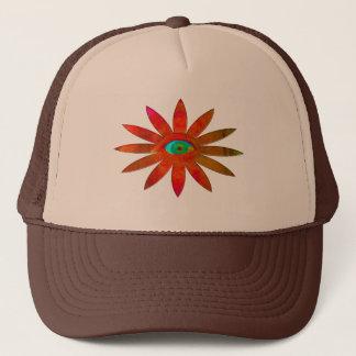 Orange Augen-Blume Truckerkappe