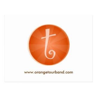 Orange Ausflug-Postkarte Postkarte