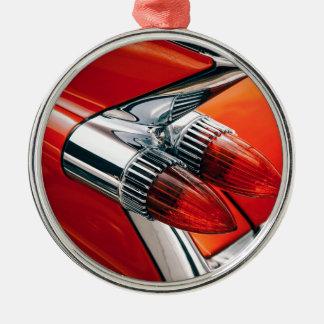Orange Auto-nahes hohes Silbernes Ornament
