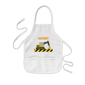 Orange Bagger, Bau-Fahrzeug, für Kinder Kinderschürze
