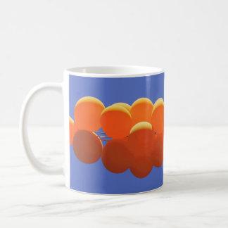 Orange Ballonschale Kaffeetasse