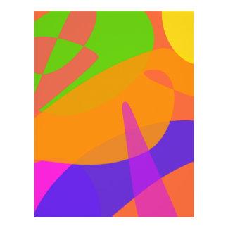 Orange basierte abstrakte Kunst Flyerdruck