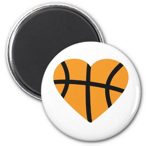 Orange Basketball-Ball-Herz-Liebe Magnets