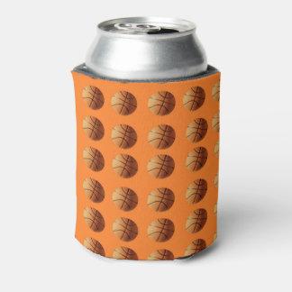 Orange Basketball-Muster auf Orange, Dosenkühler