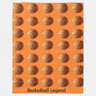 Orange Basketbälle auf orange Hintergrund, Fleecedecke