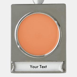 Orange besonders anzufertigen Schablone der Banner-Ornament Silber