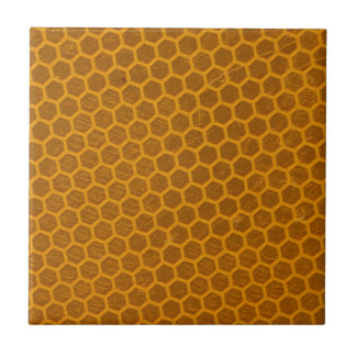 Orange Bienenwaben-Muster Keramikfliese