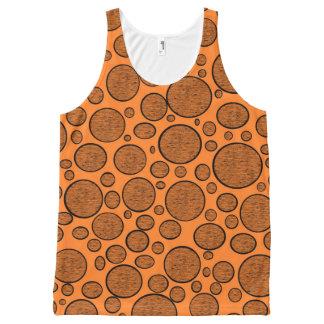 Orange Blasen dunkel Komplett Bedrucktes Tanktop