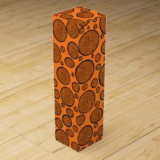 Orange Blasen dunkel Wein-Geschenkverpackung