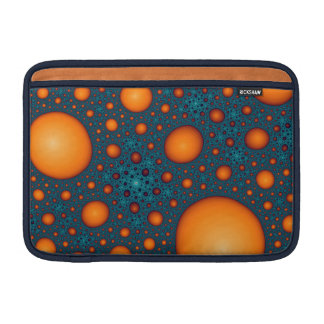 Orange Blasen MacBook Sleeve