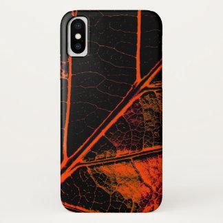 Orange Blatt-schöne Kunst iPhone X Hülle