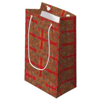 orange blaue abstrakte Geschenktasche Kleine Geschenktüte