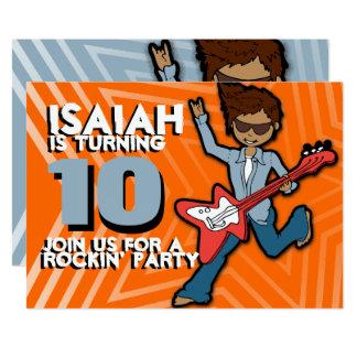Orange Blaue Einladung Des 10. Geburtstages