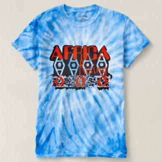Orange blaue grafische Krawatten-Unisexspitze T-shirt