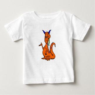 Orange blauer Drache Baby T-shirt