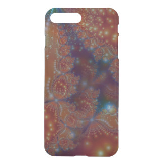 Orange blauer Fraktal-Kunst-Fantasie-Nebelfleck iPhone 8 Plus/7 Plus Hülle