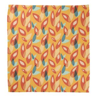 Orange blauer gelber abstrakter Herbst verlässt Kopftuch