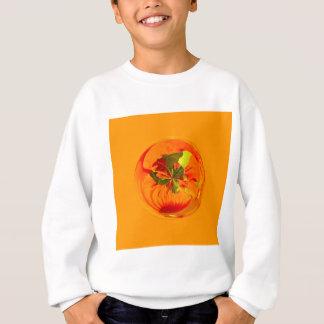 Orange Blume in der Kugel Sweatshirt