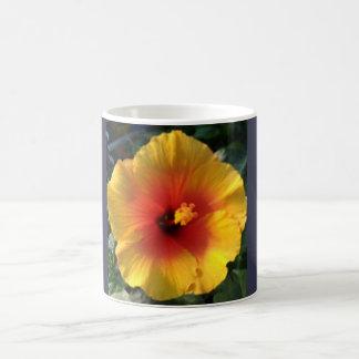 Orange Blume Kaffeetasse