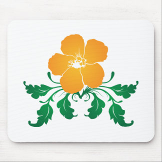 Orange Blume: Vektorzeichnen: Mauspad