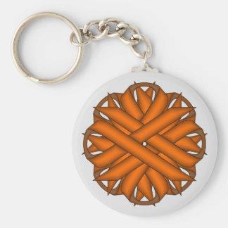Orange Blumen-Band durch Kenneth Yoncich Schlüsselanhänger