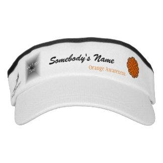 Orange Blumen-Band-Schablone Visor