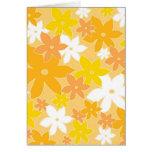 Orange Blumen Karte