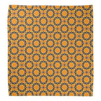 Orange Blumen-Muster Halstuch