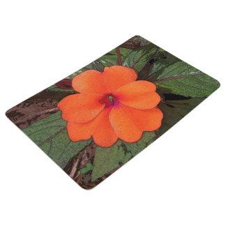 Orange Blumen-Nahaufnahme Bodenmatte