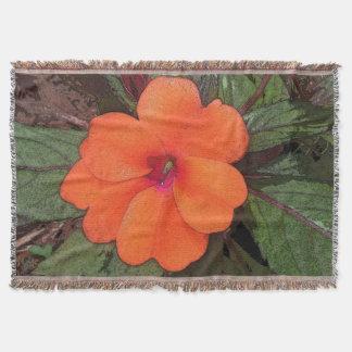 Orange Blumen-Nahaufnahme Decke