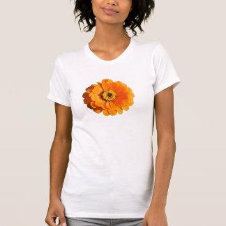 Orange Blumen-T - Shirt